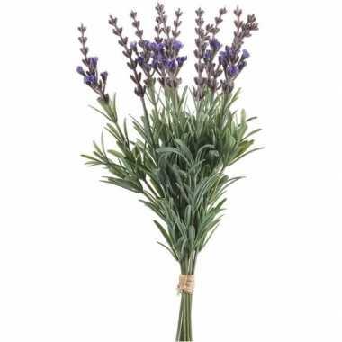 Lavendel kunst boeket 12 stuks 33 cm