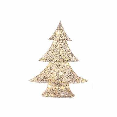 Led kerstboom met zilver en goud 48 cm