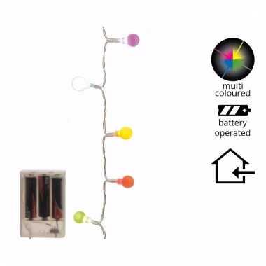 Led kleurverlichting 20 lampjes 1 m