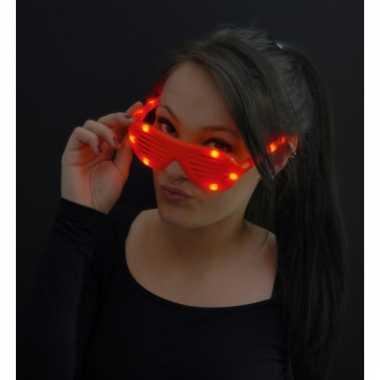 Led lamellenbril rood