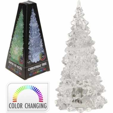 Led licht kerstboompje 18 cm