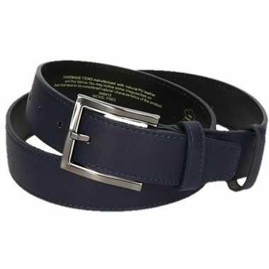 Lederen riemen 95 cm jeans blauw voor volwassenen