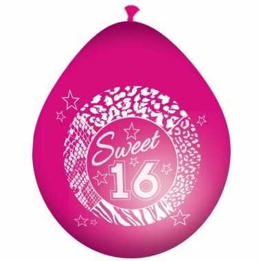 Leeftijd ballonnen 16 jaar feestversiering