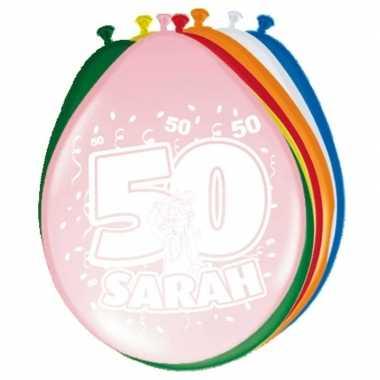 Leeftijd ballonnen 50 jaar sarah