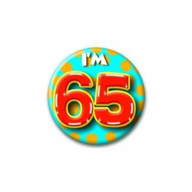 Leeftijd button 65 jaar