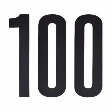 Leeftijd cijfer stickers 100 jaar
