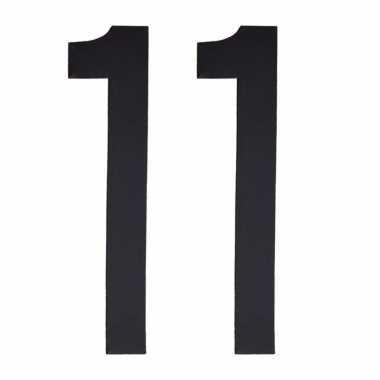 Leeftijd cijfer stickers 11 jaar