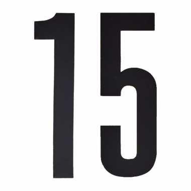 Leeftijd cijfer stickers 15 jaar