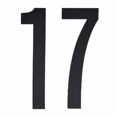 Leeftijd cijfer stickers 17 jaar