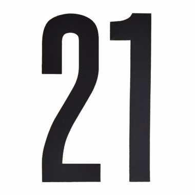 Leeftijd cijfer stickers 21 jaar