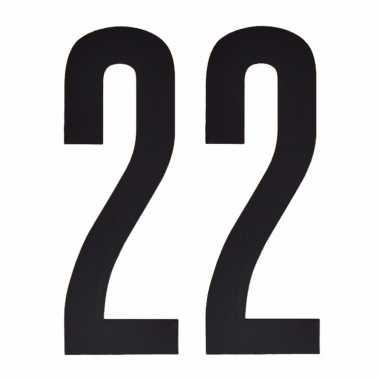 Leeftijd cijfer stickers 22 jaar