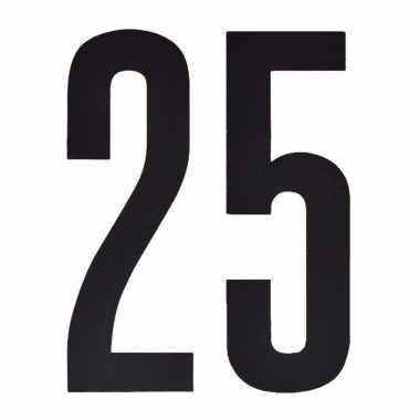 Leeftijd cijfer stickers 25 jaar