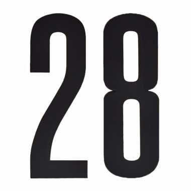 Leeftijd cijfer stickers 28 jaar