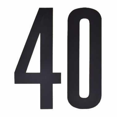 Leeftijd cijfer stickers 40 jaar