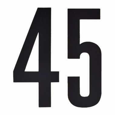 Leeftijd cijfer stickers 45 jaar