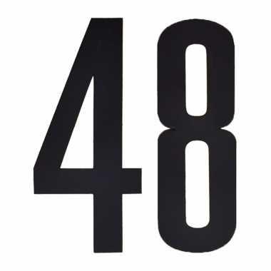 Leeftijd cijfer stickers 48 jaar