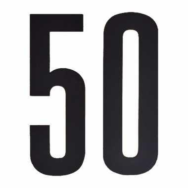 Leeftijd cijfer stickers 50 jaar