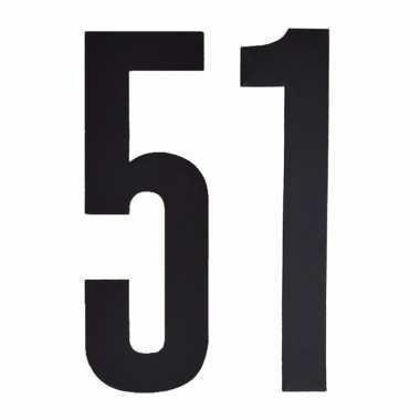 Leeftijd cijfer stickers 51 jaar