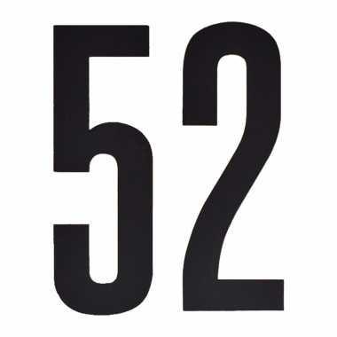 Leeftijd cijfer stickers 52 jaar