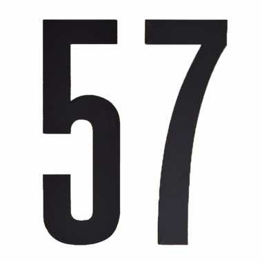 Leeftijd cijfer stickers 57 jaar
