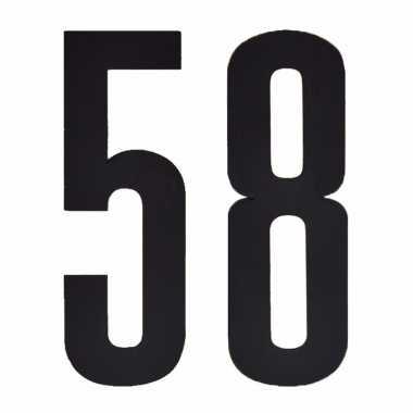 Leeftijd cijfer stickers 58 jaar