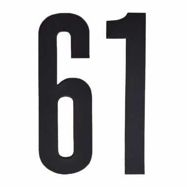 Leeftijd cijfer stickers 61 jaar