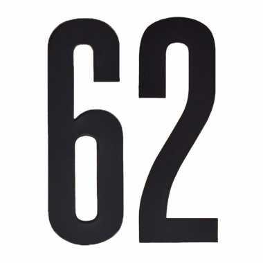 Leeftijd cijfer stickers 62 jaar