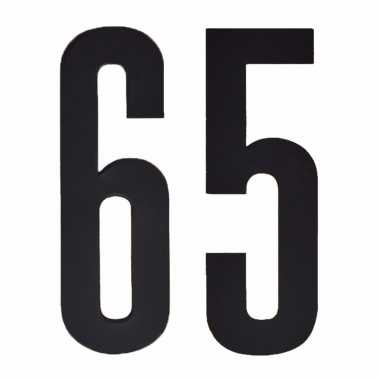 Leeftijd cijfer stickers 65 jaar