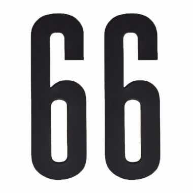 Leeftijd cijfer stickers 66 jaar