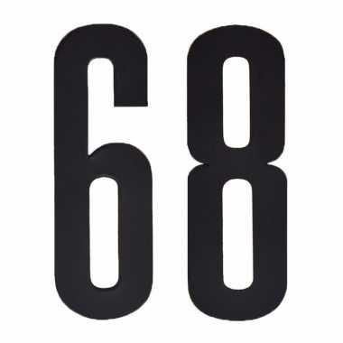 Leeftijd cijfer stickers 68 jaar