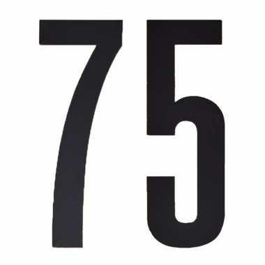 Leeftijd cijfer stickers 75 jaar