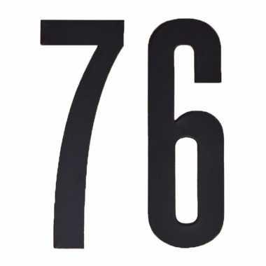 Leeftijd cijfer stickers 76 jaar