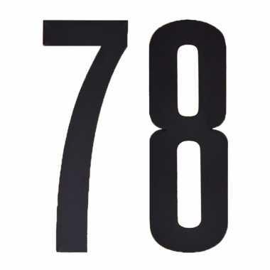 Leeftijd cijfer stickers 78 jaar