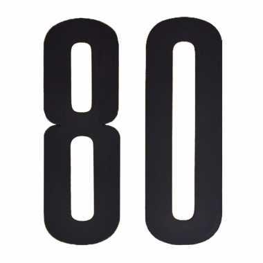 Leeftijd cijfer stickers 80 jaar
