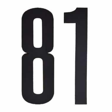 Leeftijd cijfer stickers 81 jaar