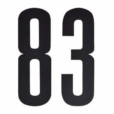 Leeftijd cijfer stickers 83 jaar