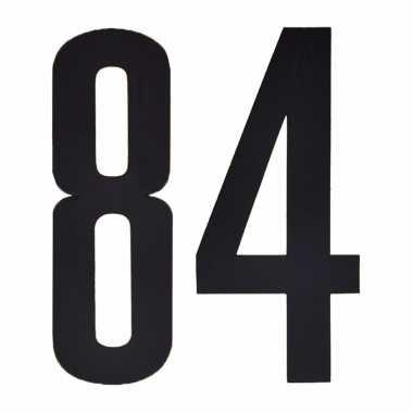 Leeftijd cijfer stickers 84 jaar