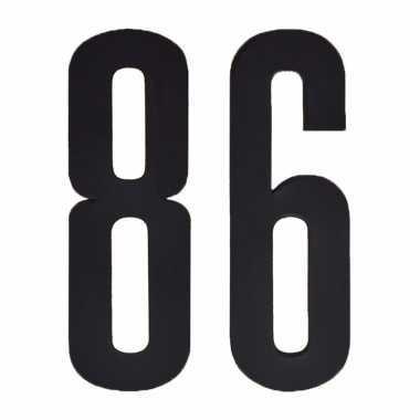 Leeftijd cijfer stickers 86 jaar
