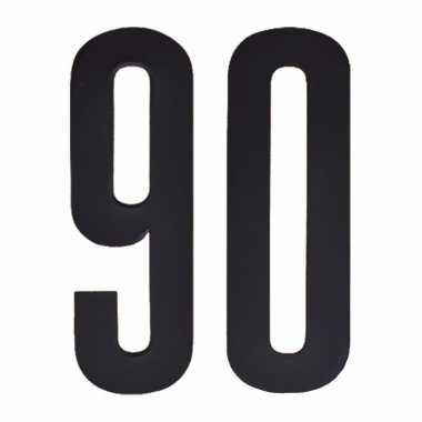 Leeftijd cijfer stickers 90 jaar