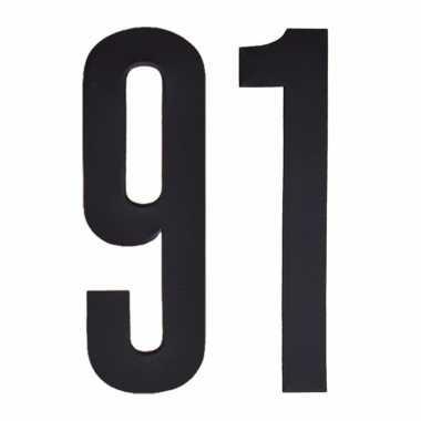 Leeftijd cijfer stickers 91 jaar