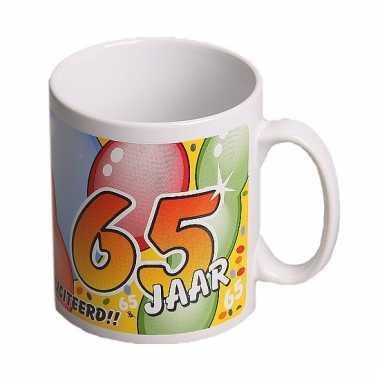 Leeftijd mok gefeliciteerd 65 jaar
