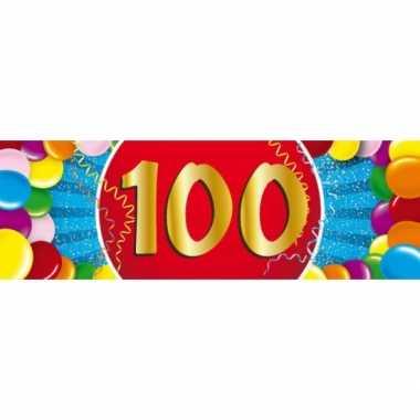 Leeftijd sticker 100 jaar
