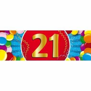 Leeftijd sticker 21 jaar
