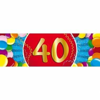Leeftijd sticker 40 jaar