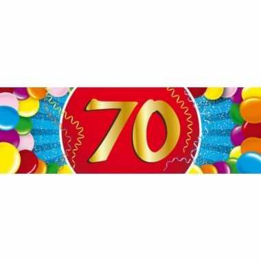 Leeftijd sticker 70 jaar
