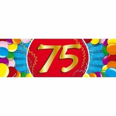Leeftijd sticker 75 jaar