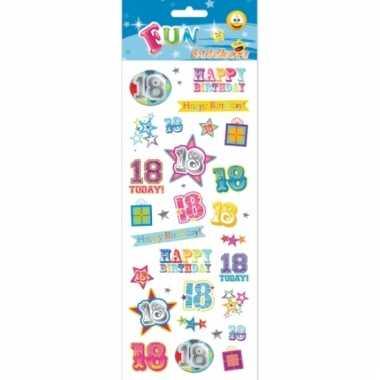 Leeftijd stickers 18 jaar