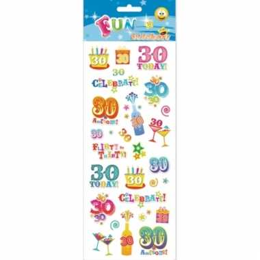 Leeftijd stickers 30 jaar