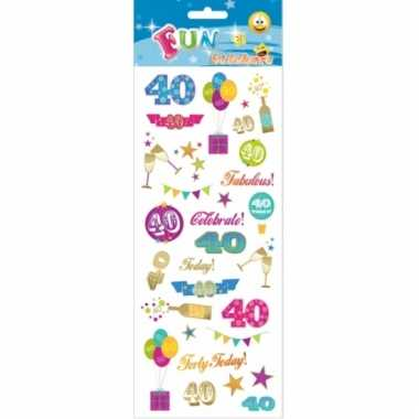 Leeftijd stickers 40 jaar
