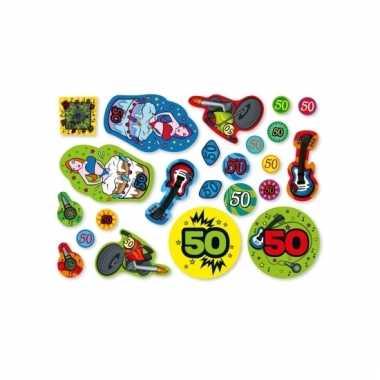 Leeftijd versiering 50 jaar confetti 300g